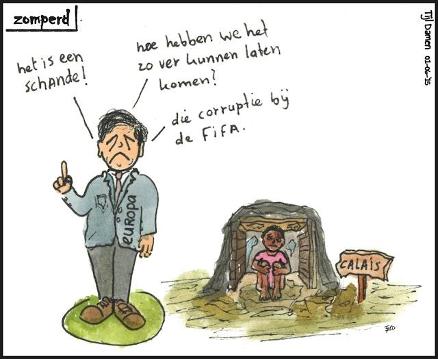Zomperd - een schande - Calais