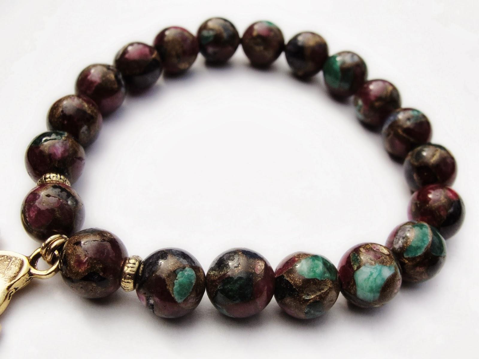 honor of the elephant bead bracelet w gold