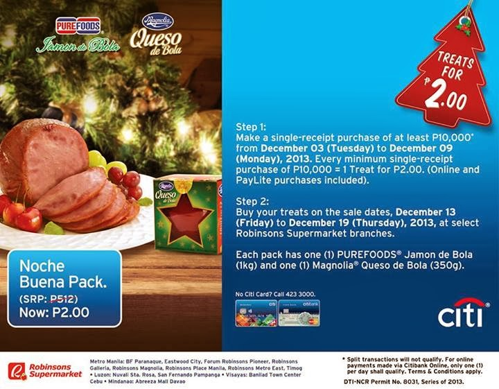 Another 2 Pesos Treat From Citibank and now its a Noche Buena Pack.