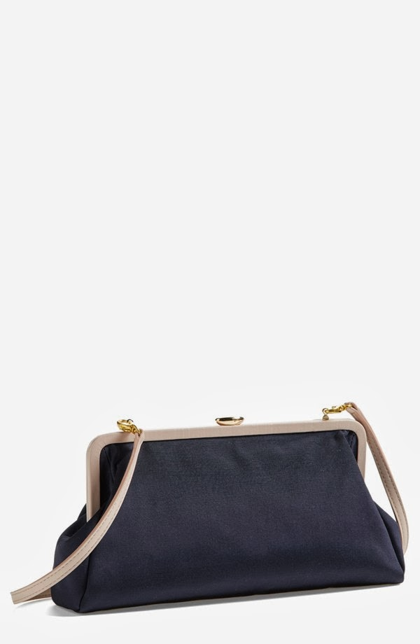 SJP Beekman Grosgain Clutch in Navy