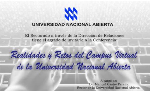 Conferencia Realidades y Retos del Campus Virtual de la UNA