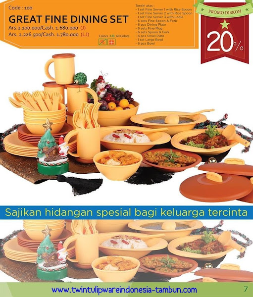 Promo Diskon Tulipware Desember 2015, Jumbo Lunch Box, Large Tea Set, Lunch Box