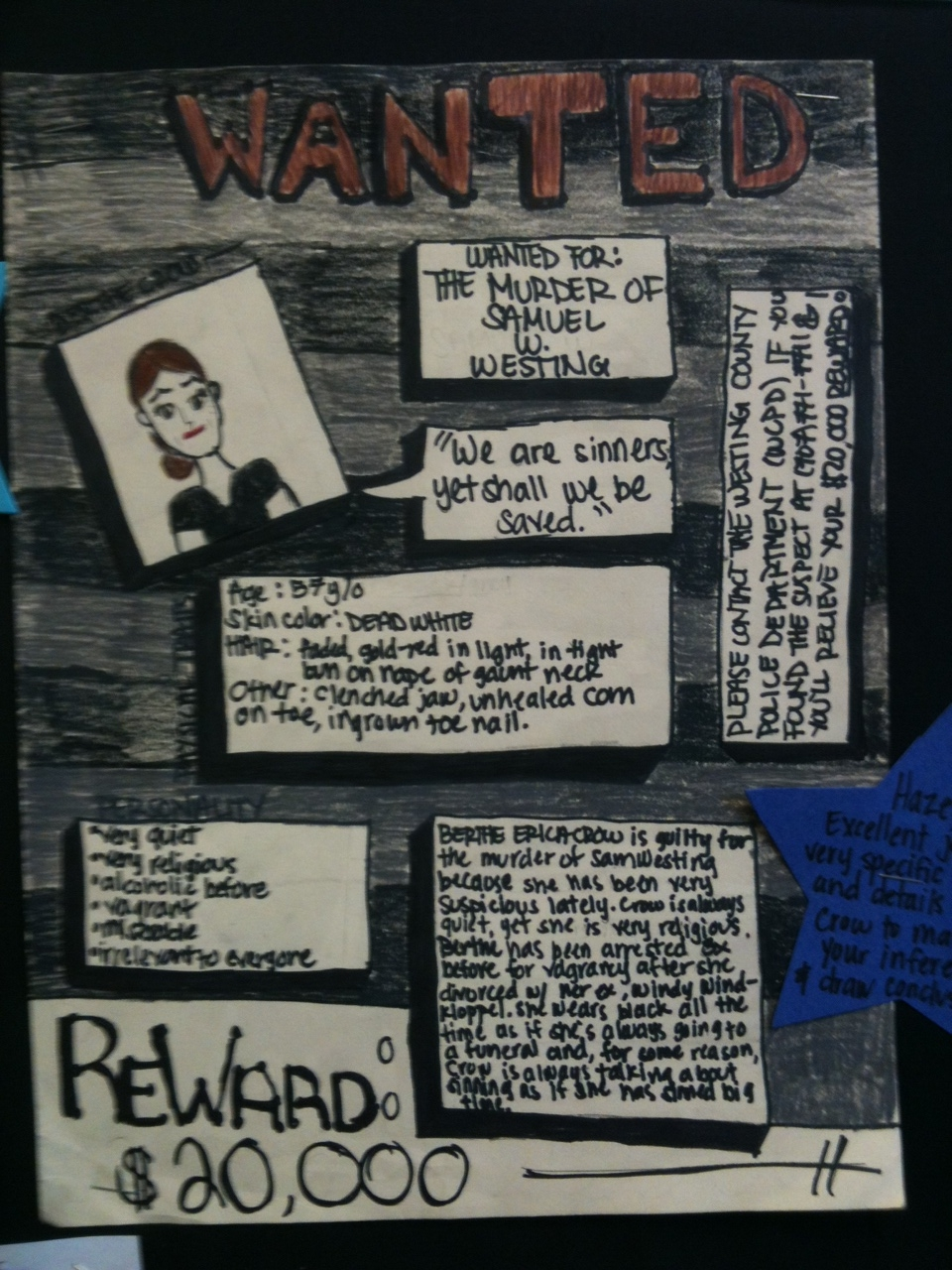 little piece of tape  westing game wanted posters
