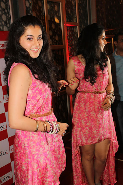 Tapsee in mini skirt