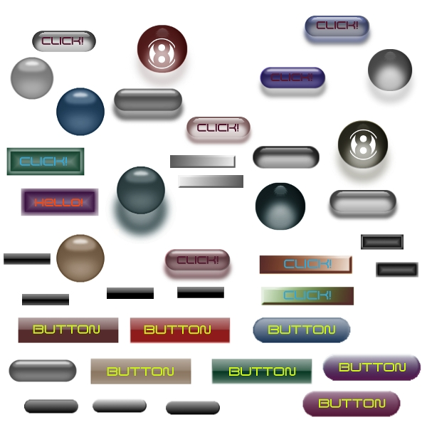 105 Free Photoshop Colorful Web Buttons  Download
