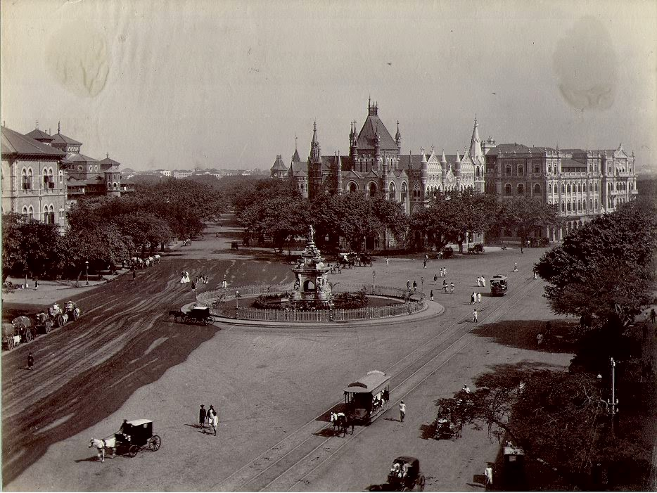 Flora Fountain, Bombay in 1880