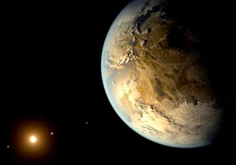 The U.S. space agency NASA discovered a planet suitable for life