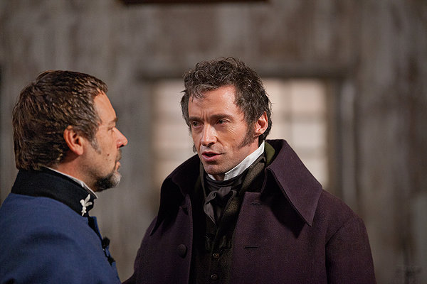 les miserables movie, huge jackman, russell crowe