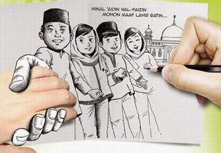 Gambar Kata Lucu Ucapan Idul Fitri Terbaru