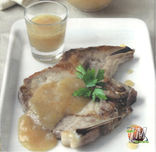 Chuleta de Sajonia con salsa de membrillo