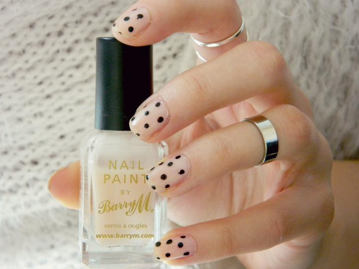 Love From Lisa Nude & Polka Dot Nails