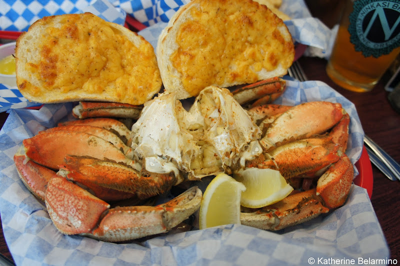 Dungeness Crab at Fish Peddler's Market Newport Oregon Coast