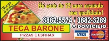 Teca Barone - Pizzas e Esfihas