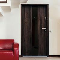 Drzwi wejściowe Bastion Lacolabel Vox ze szkłem ozdobnym