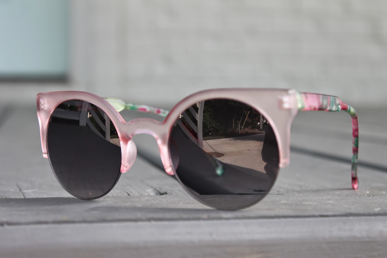 Floral Print Pink Sole Society Sunglasses