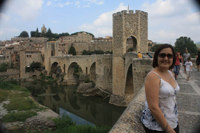 Medieval bridge in Besalú