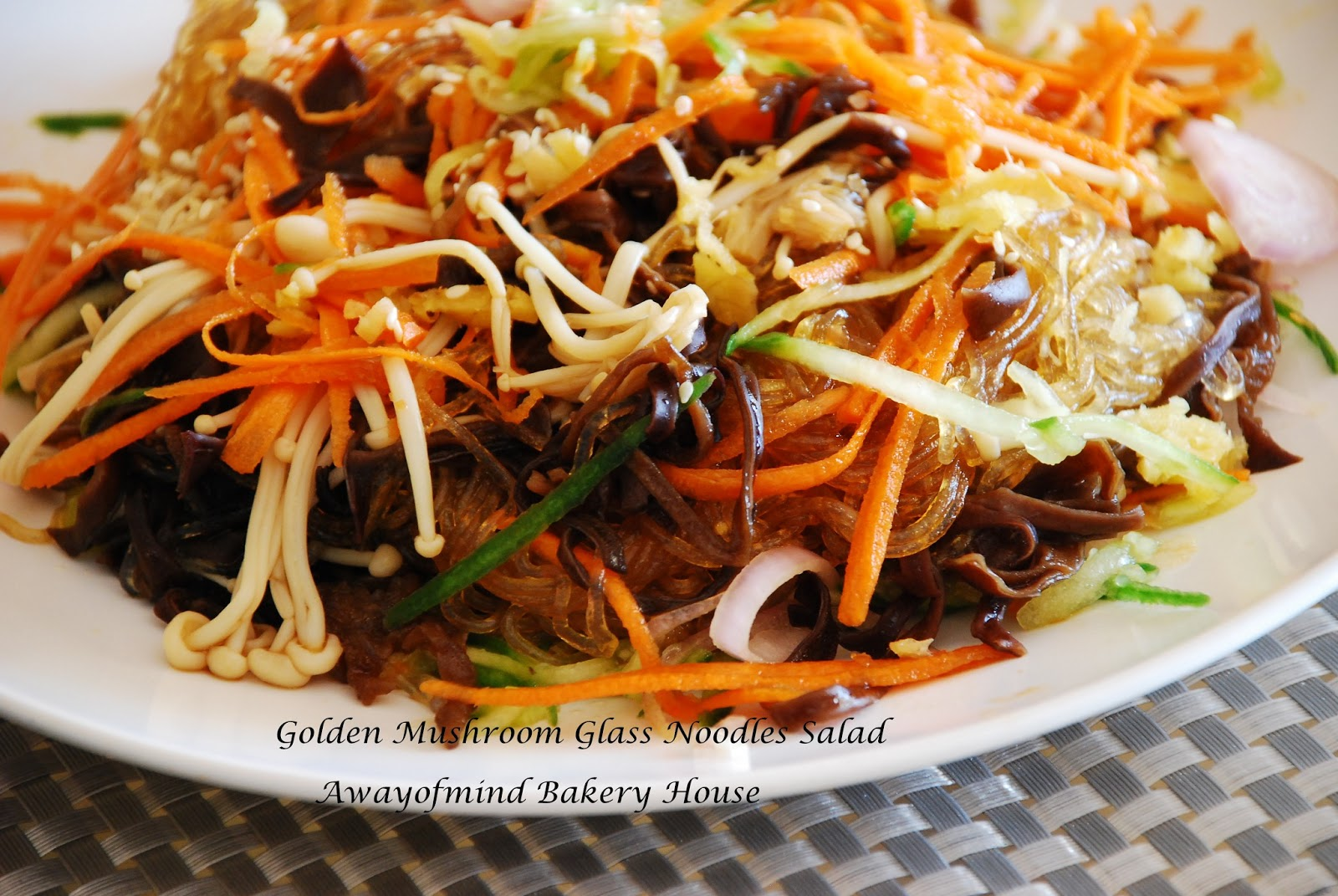 ... House: Golden Mushroom Glass Noodles Salad 凉拌冬粉金针菇