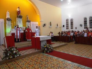 Imagens da 3ª noite do novenário em honra ao Sagrado Coraçao de Jesus