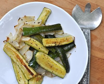 Easy-Easy Roasted Zucchini