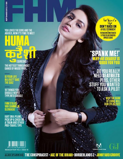 Huma Qureshi Hot photo shoot on the cover of FHM India