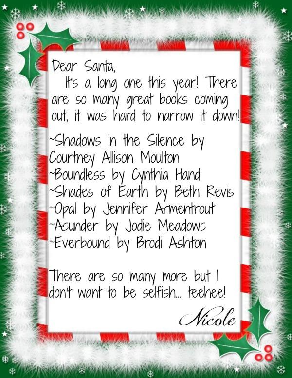 The Reader's Antidote: WinterHaven Sleigh Tour: Dear Santa Wish-List