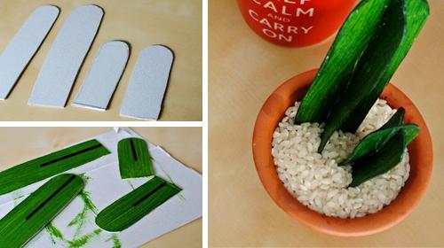 DIY cactus cartón cacti cardboard manualidades handmade