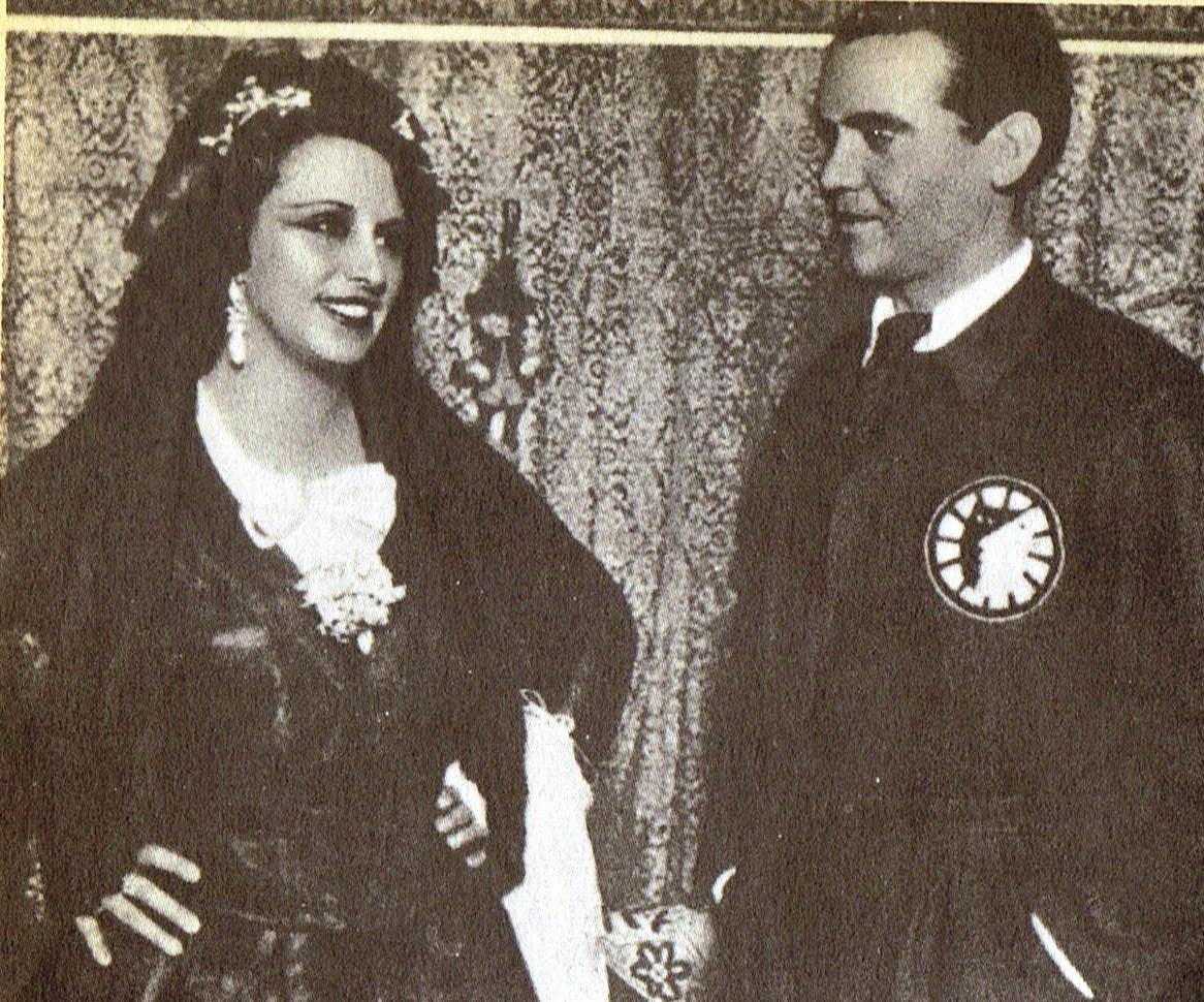 Lorca junto a Josefina Díaz de Artigas en Madrid en 1933