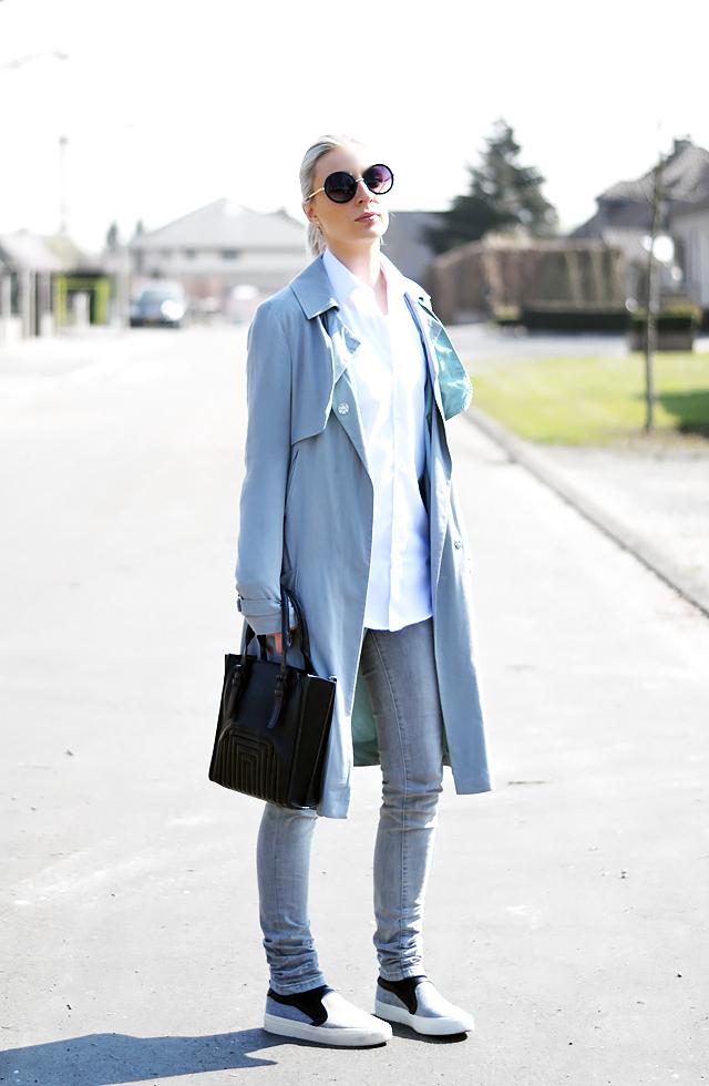 outfitpost, street style, celine slip ons, zara, bag, mango jeans