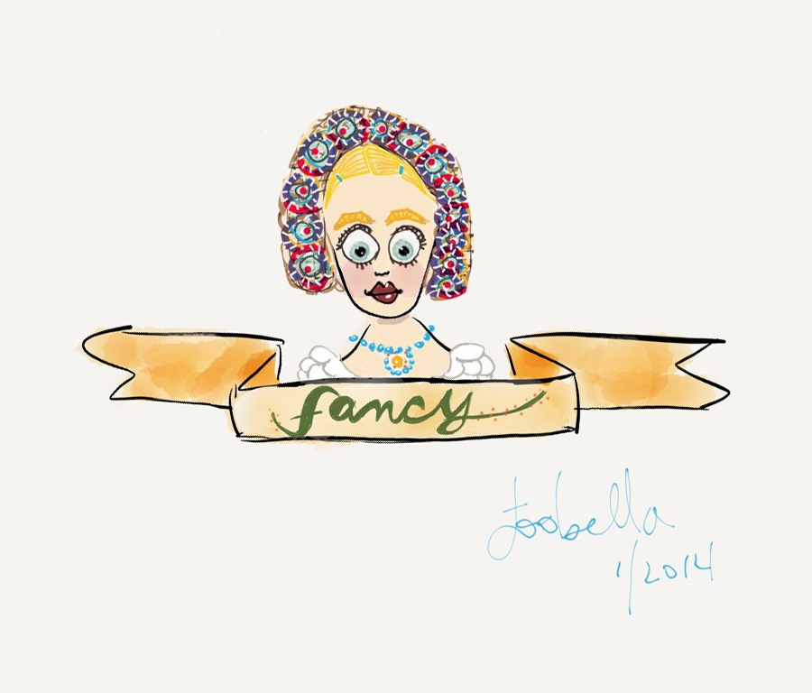 Fancy the German Girl doodle via facedances.blogspot.com