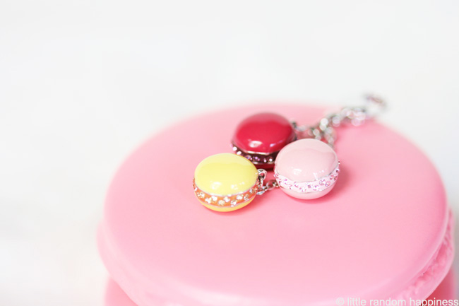 This charm with 3 tiny macarons was from Swarovski . I love the ...