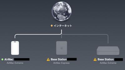 airmacユーティリティ画面