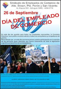 SINDICATO DE EMPLEADOS DE COMERCIO DE ALTE. BROWN, PTE. PERÓN Y SAN VICENTE.
