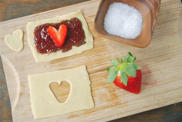 Receta de Galletas de Fresa y Nutela Para San Valentin