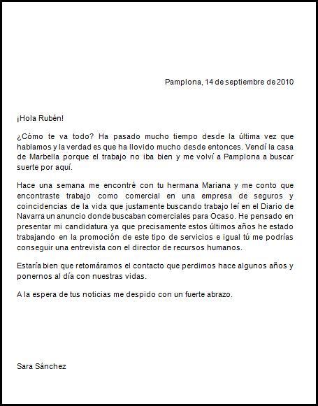 CARTAS EN ESPAÑOL: CARTA FORMAL Y INFORMAL