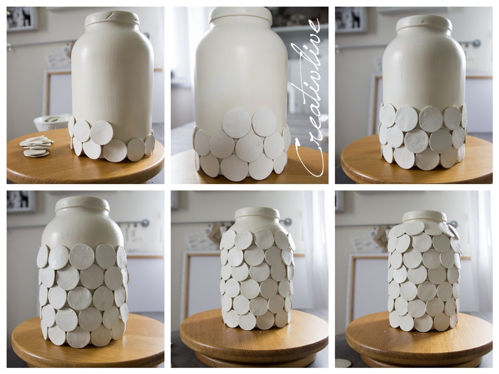 Diy vase dots creativlive for Weihnachtsdeko in vasen