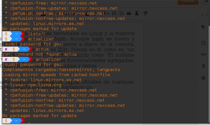 Instalar ZSH en distros derivadas de Debian-Ubuntu