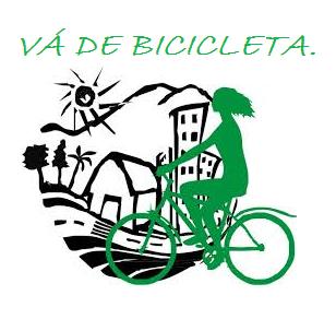 Vá de bicicleta.