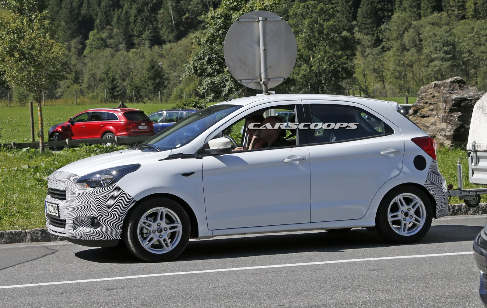 ford spied testing new 2016 ka on european soil carscoops. Black Bedroom Furniture Sets. Home Design Ideas