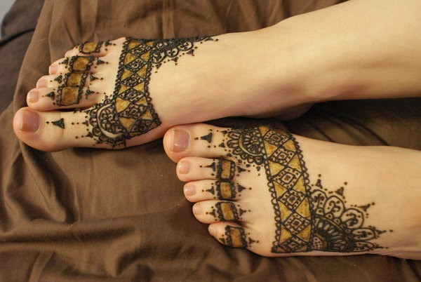 5 Beautiful Simple Foot Henna Designs 2014 Latest Images World