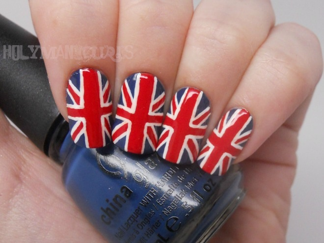 Holy manicures union jack nails prinsesfo Image collections