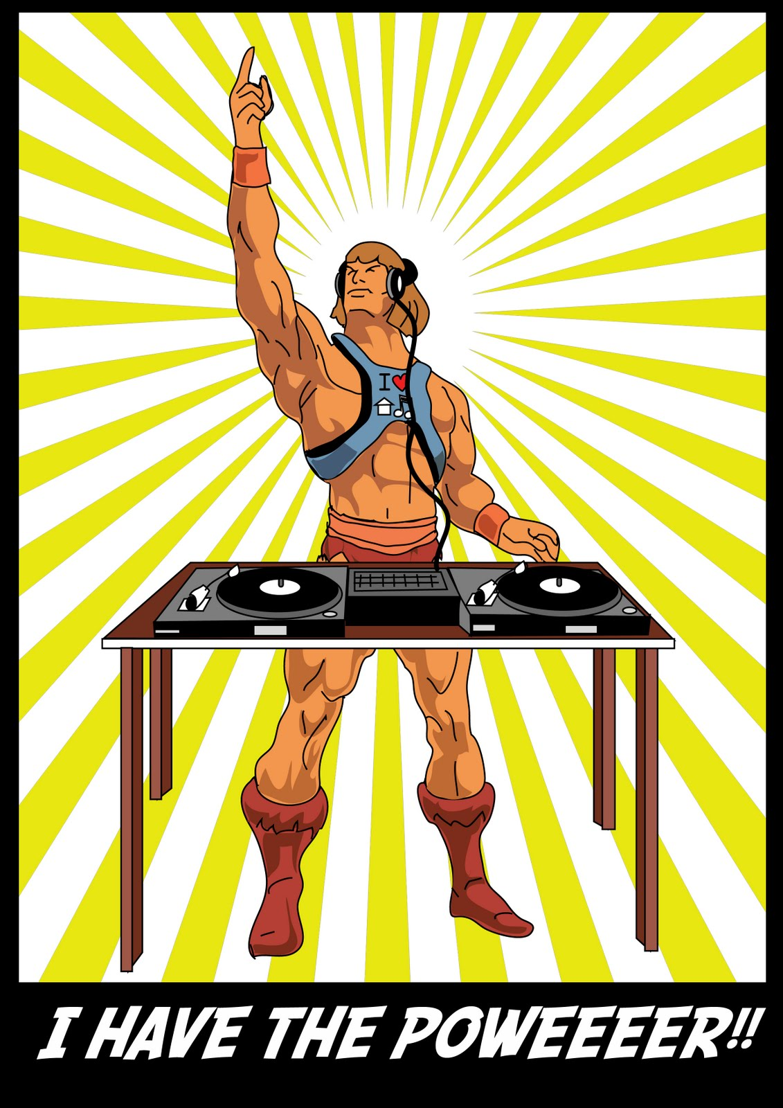 He man plays house music for Retro house music