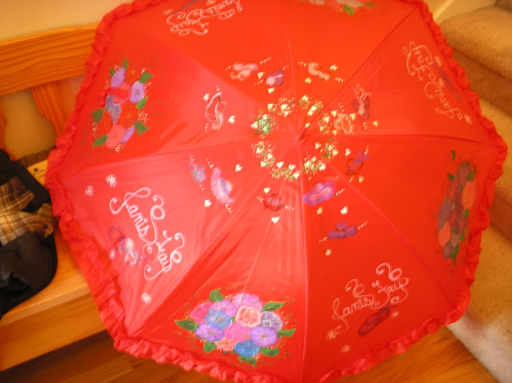 red hat lady umbrella (red)