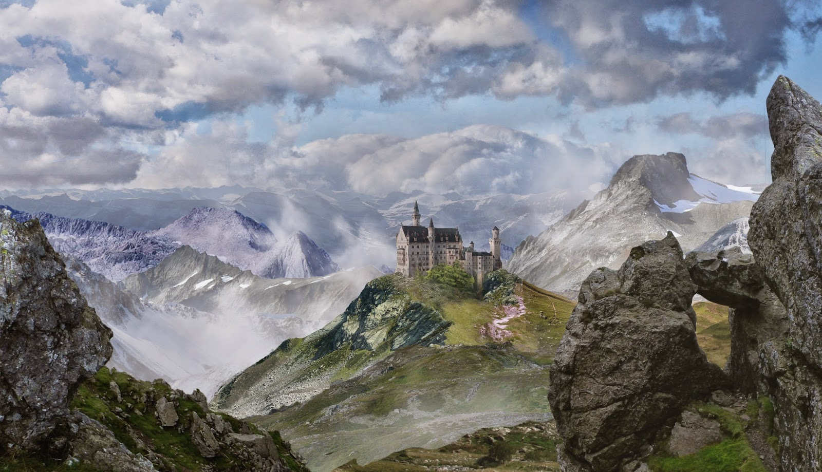Katie alexander first attempt at matte painting using digital tutor tutorial created on photoshop currently putting together in maya to create a moving scene baditri Gallery