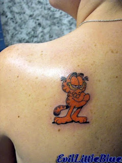 Garfield Tattoo Ideas - Garfield Tattoo Design Photo Gallery