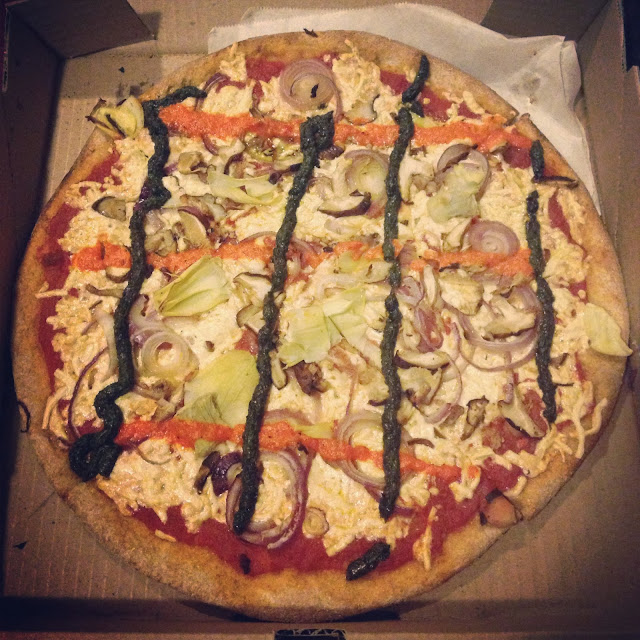 V for Vegan Pizza - Two Boots (NYC) Veega
