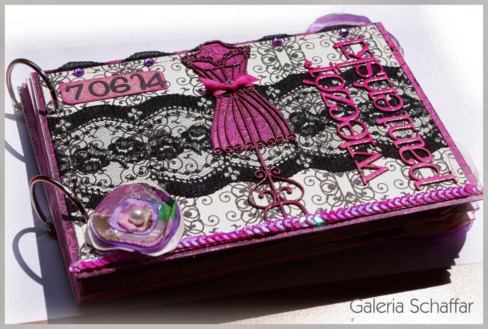 prezent na panieński album handmade różowy albumik
