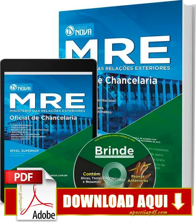 Apostila MRE Oficial de Chancelaria 2015 PDF Download Grátis
