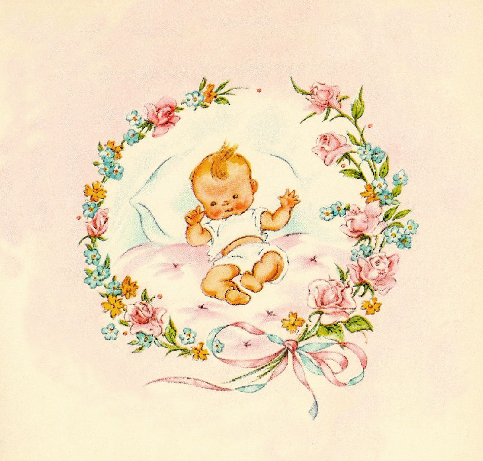 Vintage Baby Clipart 41