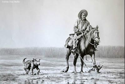 'El Isleño', obra del artista argentino Esteban Díaz Mathe, tomada de http://www.diazmathe.com/