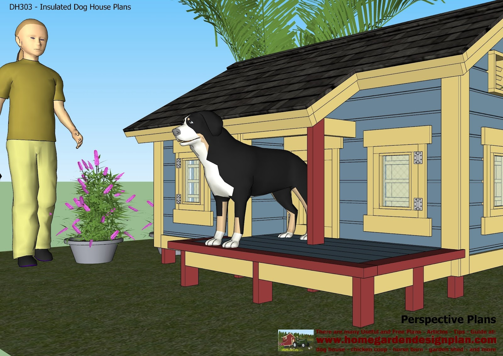 Dog House With Porch Plans Design 4moltqacom